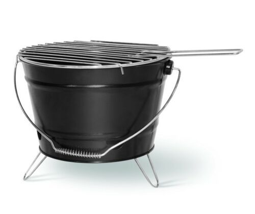 Barbecue Grill Grilleimer Partygrill Minigrill Campinggrill Picknickgrill SMILIE Schwarz